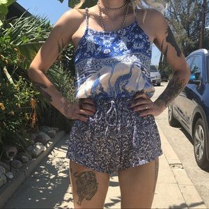 Spell & the Gypsy peacock romper size xs